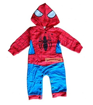 Costume dell'uomo ragno per bambini piccoli