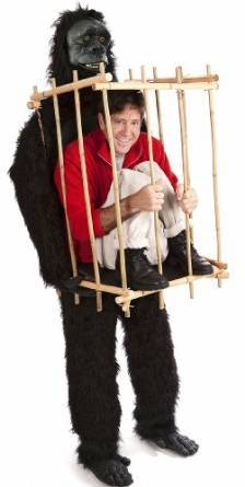 Costumi di halloween gorilla