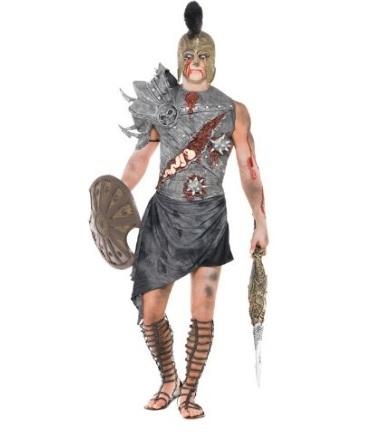 Costume da guerriero zombie gladiatore per halloween