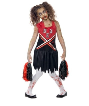 Costume da zombie cheerleader per bambina