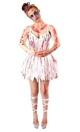 Costume da donna pieno di sangue per halloween