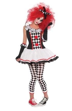 Costume di halloween arlecchino donna ragazza