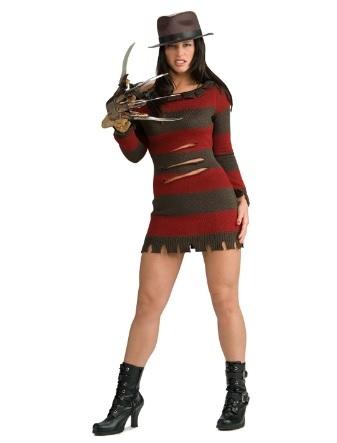 Costume di halloween da krueger donna