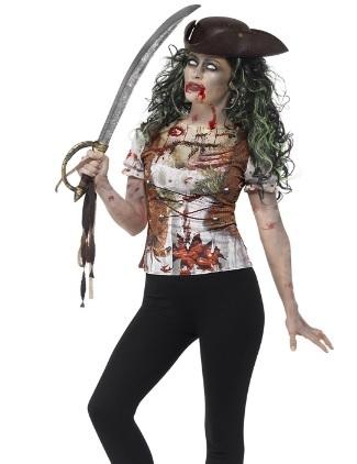 Costume da donna spaventoso da pirata zombie