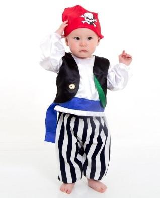 Costume per halloween per neonato da pirata