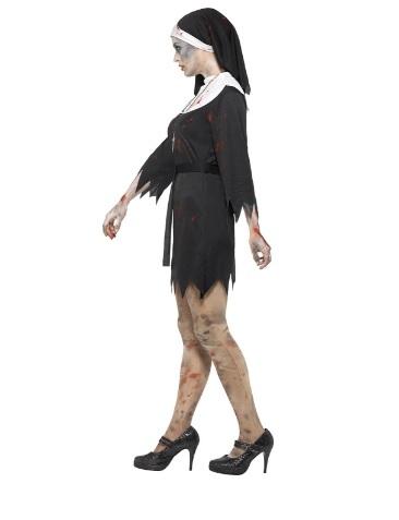Costumi halloween donna suora zombie