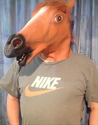 Wilk Testa di Cavallo Maschera Maschere Divertenti Animali Testa di Cavallo Maschera Collection Maschera di Halloween Costume da Animale per Cosplay