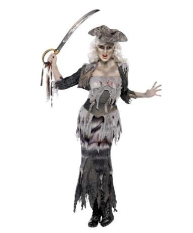 Costume halloween zombie donna