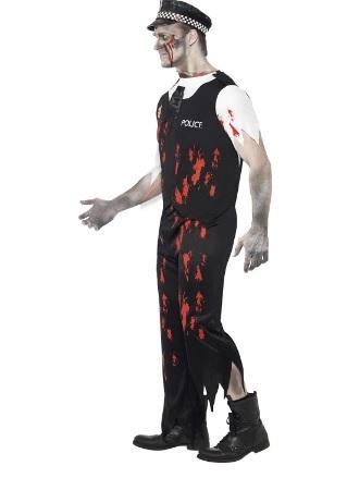 Halloween costume zombie makeup