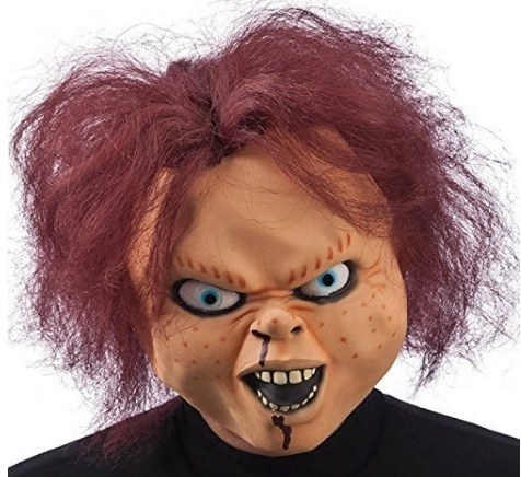 Maschera halloween bambola assassina