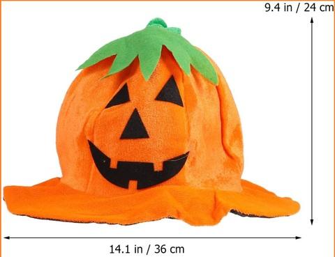 Cappello zucca halloween fai da te