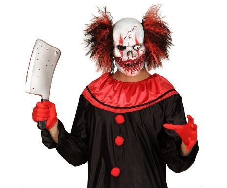 Maschera halloween con sangue