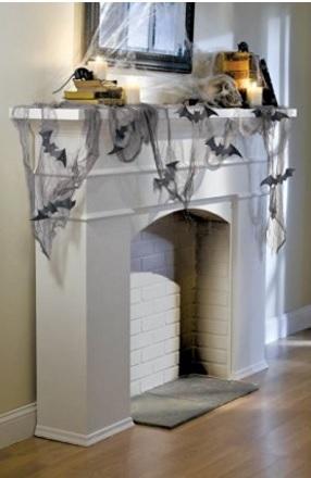 Decorazione a forma di lenzuolo con pipistrelli