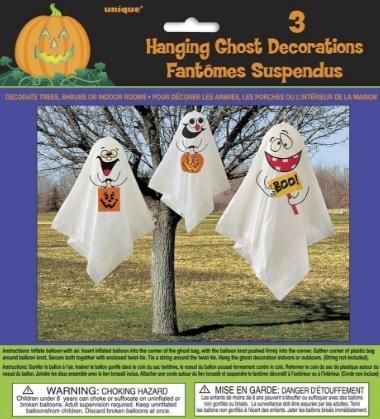 Palloncini a forma di fantasma per la festa di halloween