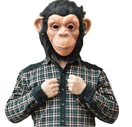 Maschera da scimmia per la festa di halloween