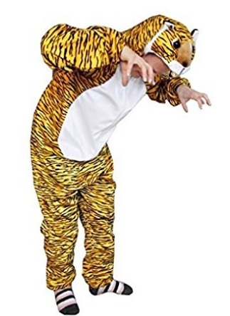 Costume da tigre per la festa di halloween