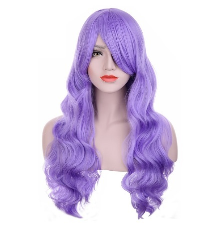 Parrucca Dal Colore Viola Per Halloween