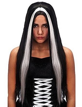 Parrucca Di Morticia Per Halloween