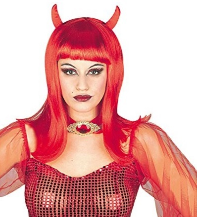 Parrucca da diavolo per la festa di halloween