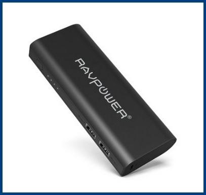 Carica batteria esterno di color nero