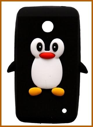 Cover in silicone a forma di pinguino nokia lumia 630