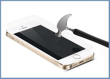 Pellicola trasparente vetro temperato per iphone 5 5s 5c