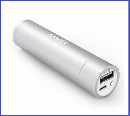 Carica batterie esterno forma cilindrica 3350 mah