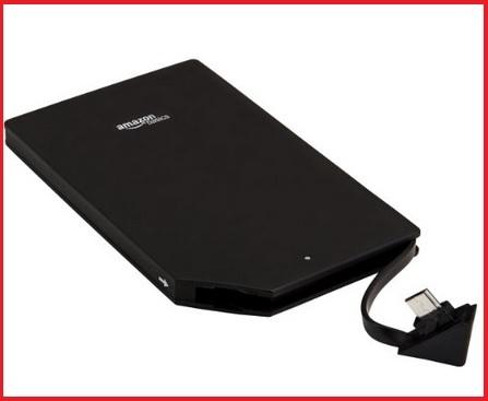 Carica batteria esterno nero per smartphone 3000 mah