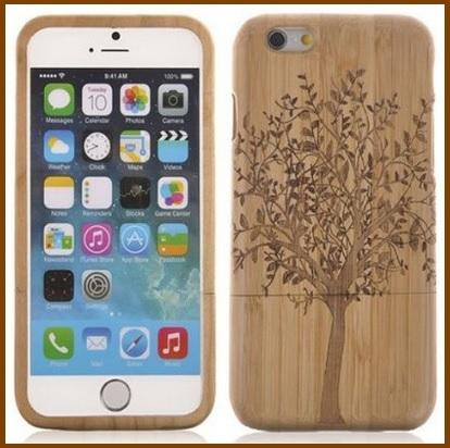 Custodia in bambu fatta a mano per iphone