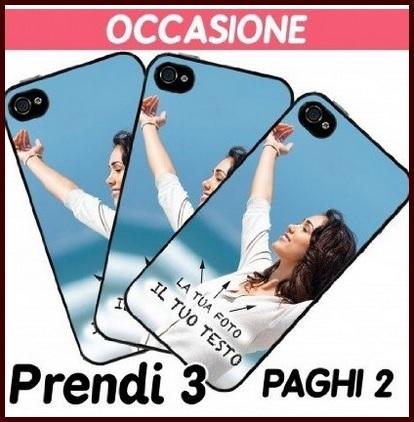 Cover personalizzate offerta 3x2 per iphone e samsung