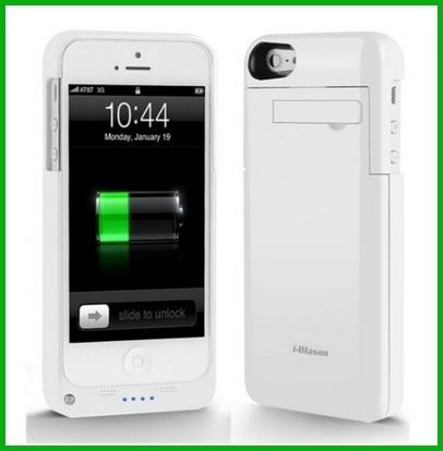 Cover ricaricabile iphone 5s con pulsante di accensione