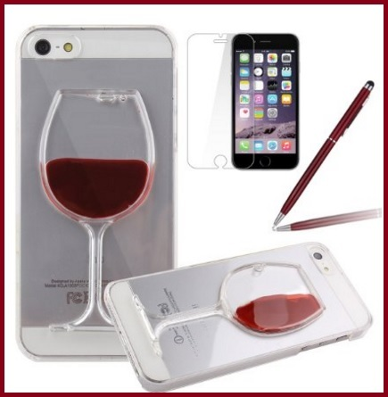 Cover vino rosso 3d per iphone