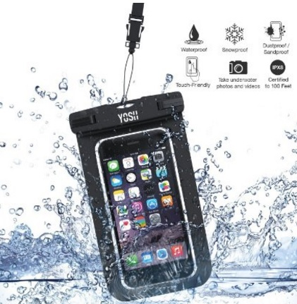 Custodia moderna impermeabile per la spiaggia iphone se