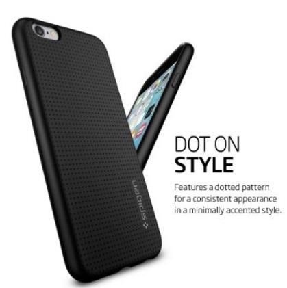 Cover ruvida in silicone per iphone 6s