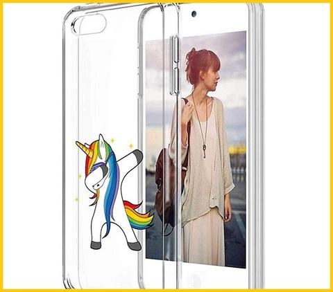 Cover ipod touch con unicorni trasparente