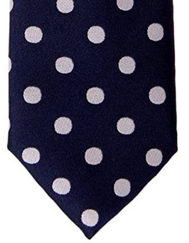 Cravatta A Pois Classica In Tessuto Di Microfibra