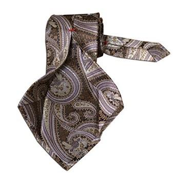 Cravatta Damascata Tre Pieghe Fatta A Mano