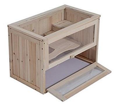 Criceto gabbia piccola in legno di abete