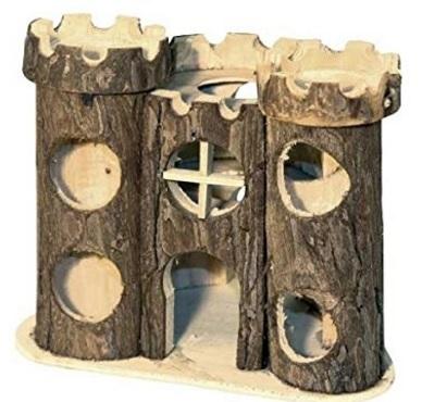 Castello in legno naturale gioco per criceti