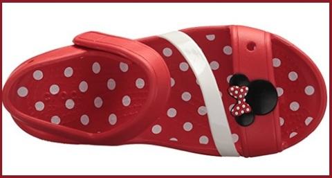 Sandali a punta crocs di minnie