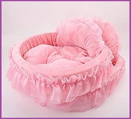 Cuccia cane rosa interno
