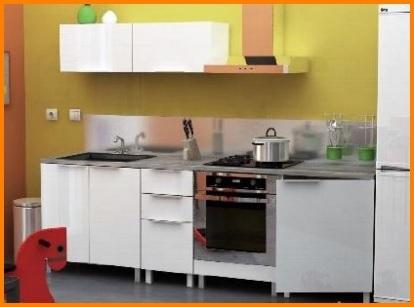 Composizione cucina completa laccata bianca