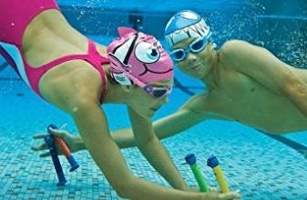 Cuffie piscina divertenti shark