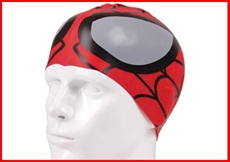 Cuffia Piscina Spiderman Rossa