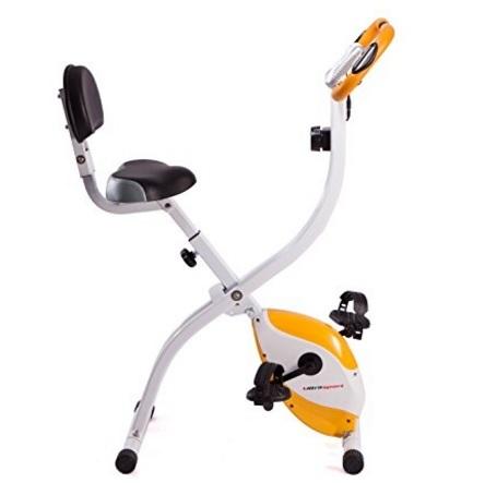 Cyclette Con Sedile Pieghevole E Sensori Palmari