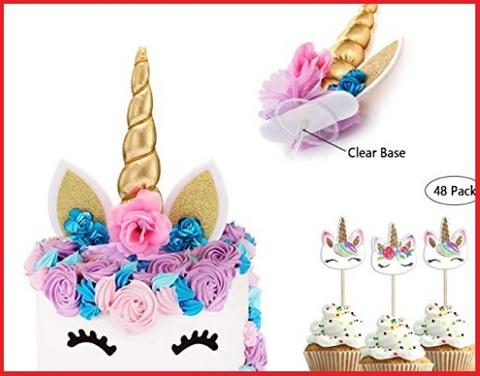 Decorazioni per torte unicorno