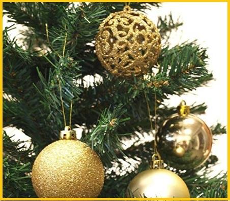 Decorazioni natale albero oro