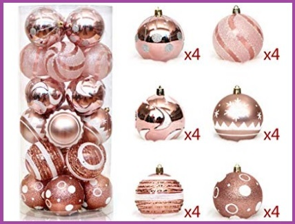 Decorazioni Natale Rosa Antico