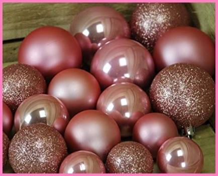 Addobbi natalizi per albero rosa