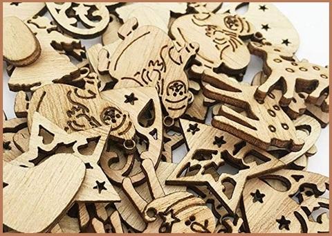 Addobbi natalizi in legno fai da te